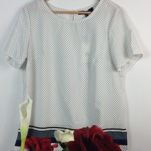 Jasmine & Jiliana short sleeve blouse